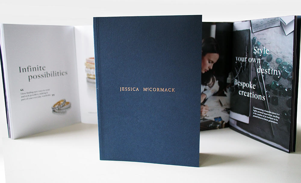 Brochure design for Jessica McCormack Diamonds