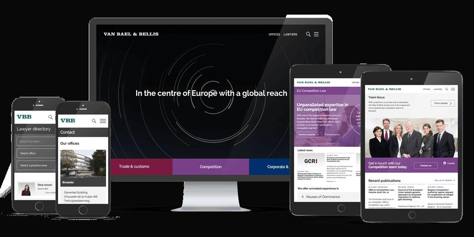 VBB website design responsive view