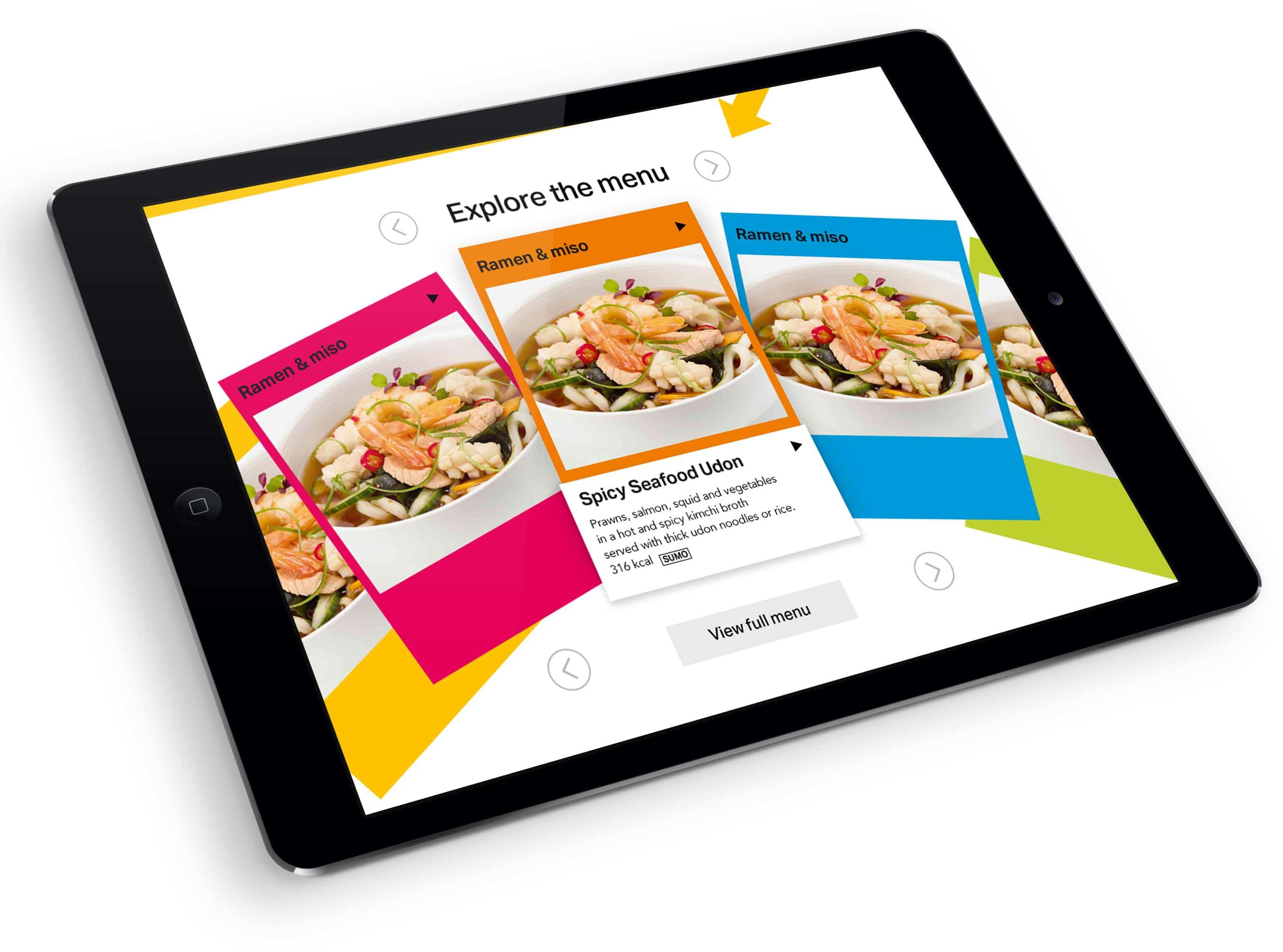 YO! Sushi ipad menu