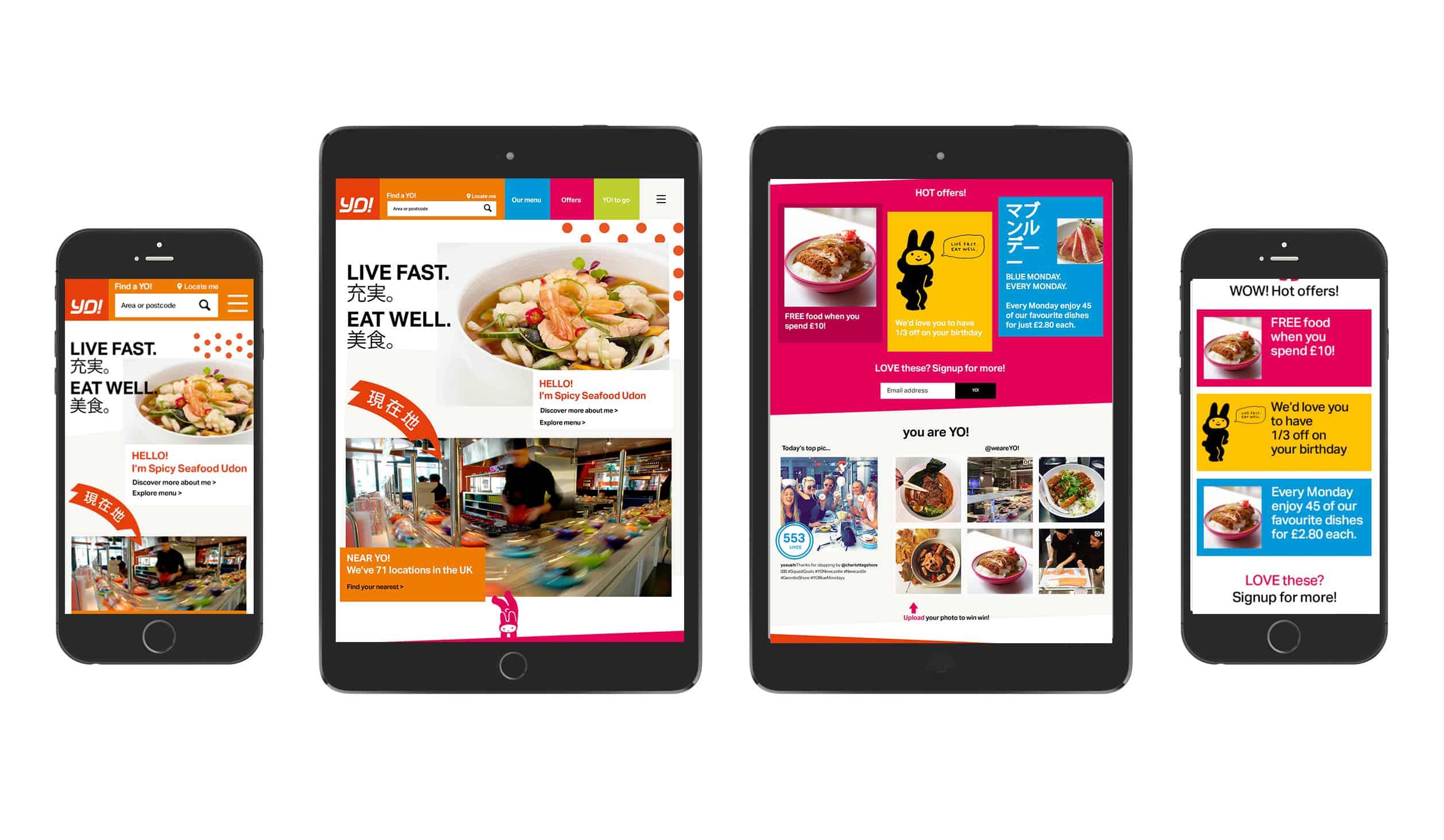 YO! Sushi ipad homepage designs