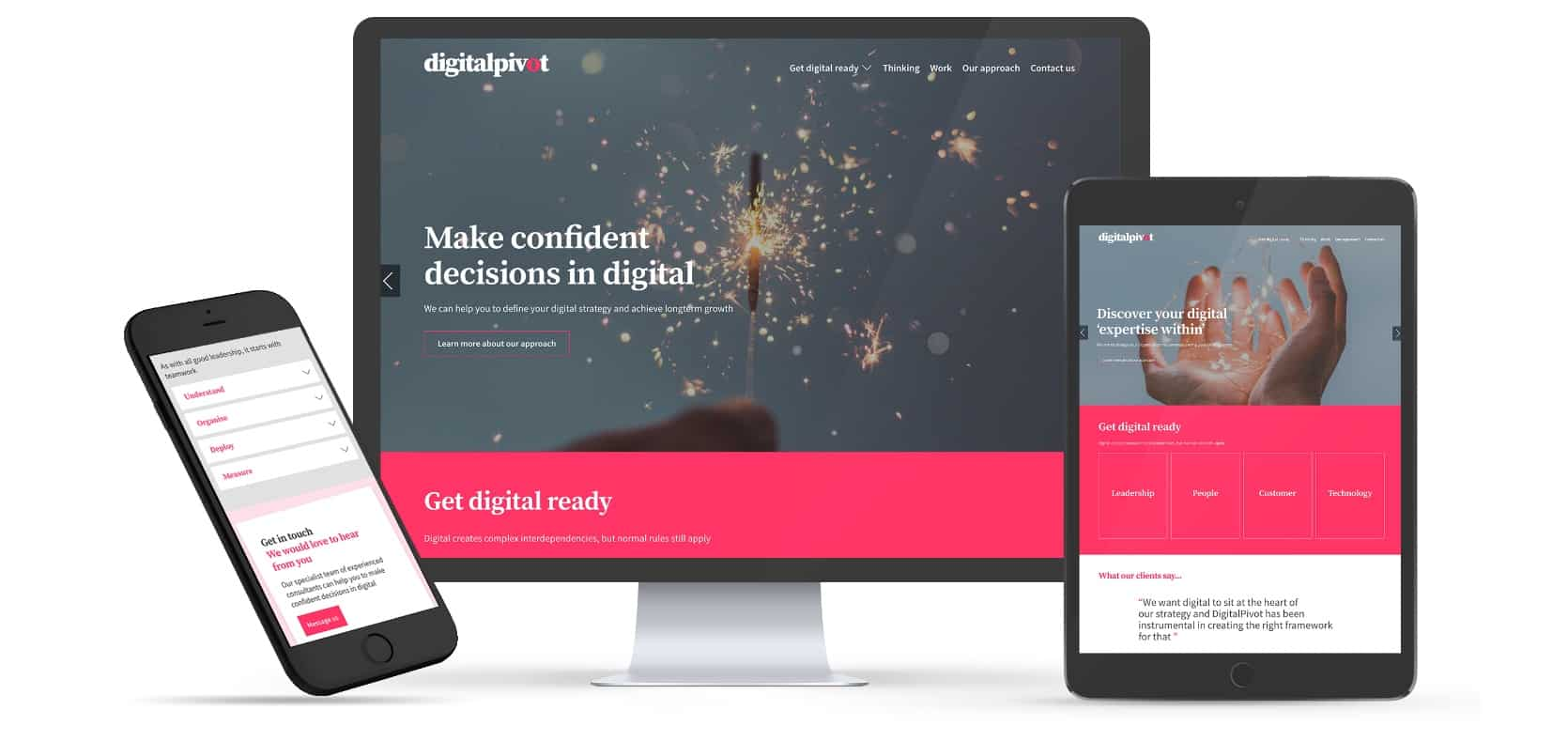 Website and branding for DigitalPivot a London digital transformation consultancy.